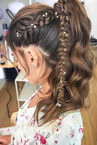 Gorgeous Ideas To Update French Braid Styles Ponytail #braids #ponytail