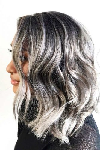 Grey Long Bob Hair picture 3