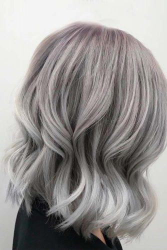 Grey Long Bob Hair picture2