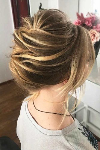 High Upstyle For Parties #shorthairstyles #christmashairstyles #hairstyles #updohairstyles