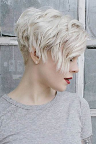 Ice Colored Side Pixie Cut picture3