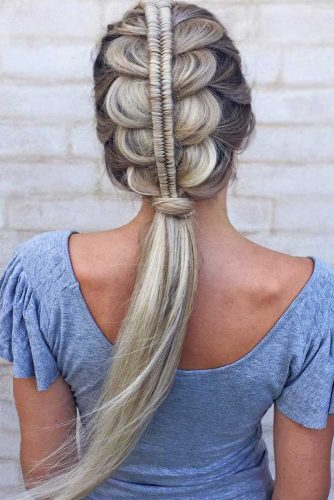 Infinity Stacked French Mohawk Braid #braids #mohawk #ponytail