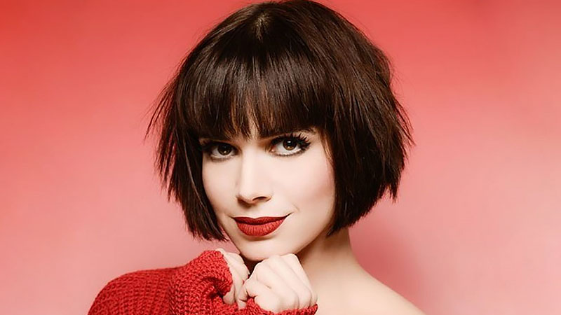 Inverted Bob With Bangs Hairstyle