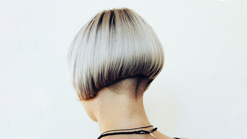 Inverted Bob With Shaved Nape Hairstyle