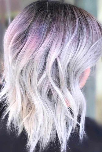 Lavender and Dirty Blonde Ombre
