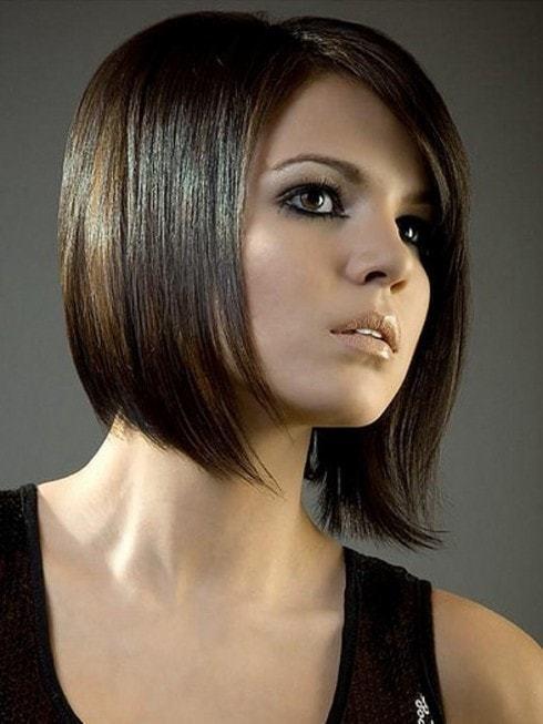 layered bob black hairstyle