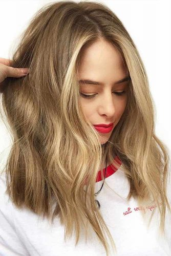 Light Brown Hair With Lowlights #brownhair #blondehair #highlights