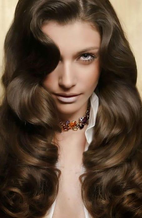 Light Brown Highlights on Dark Brown Hair