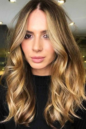 Light Honey Brown Wavy Locks #brownhair #highlights