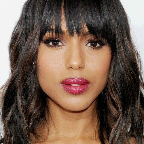 Long Bob With Front Fringe For Thick Hair
