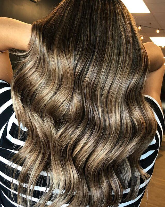 Luminous Highlighted Hairstyle For Brown Hair