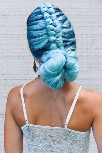 Magnificent Braided Mohawk Updo #fauxhawk #braids #updo #bun