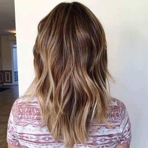 Medium Balayage Haircut with some Dynamic Layers