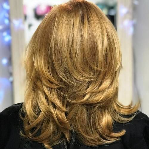 Medium Length Haircut with Body Building Layers