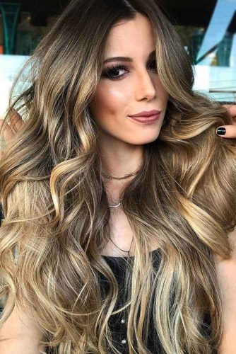 Melting Blonde Highlights #brunette #brownhair #blondehair #highlights