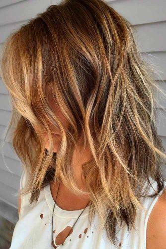 Messy Bedhead Long Shag #shaghaircut #haircuts #longhair