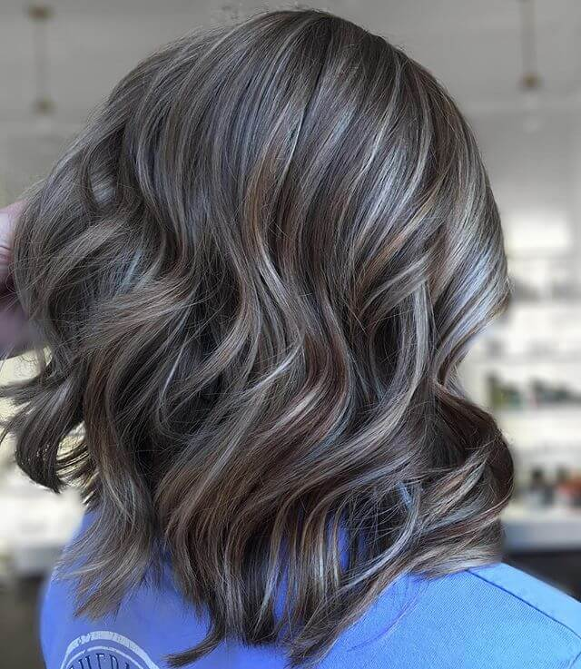 Multi-layered Dark Brown Hair With Cool Tones