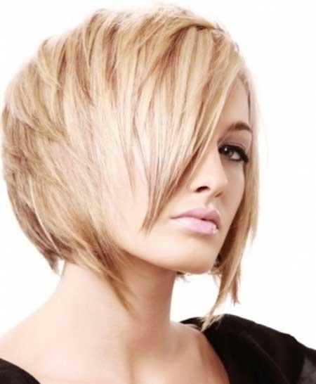 nice layered bob hair for girl