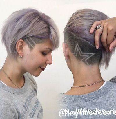 Pastel lilac and creative undercut