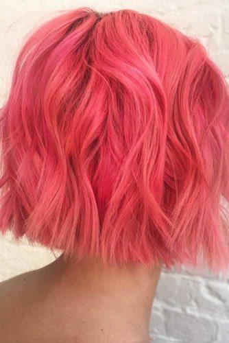 Peach Pink Blunt Bob