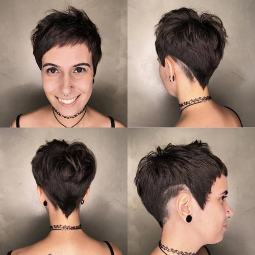 Pixie Cut In The Front And Back #pixiecut #shorthaircuts #layeredpixie