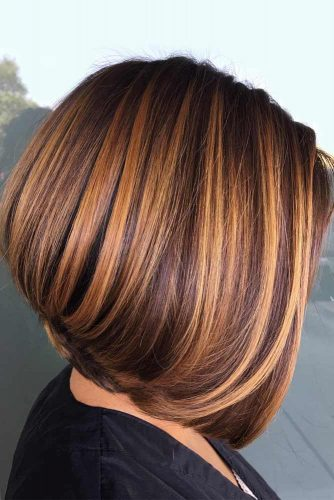 Pumpkin Spice Short Stacked Straight Bob #bobhaircuts #haircuts #stackedbob #longbob #straighthair
