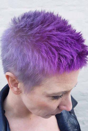 Purple Short Pixie Cut