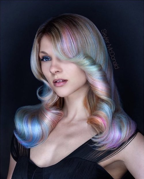 rainbow hair for thin hair