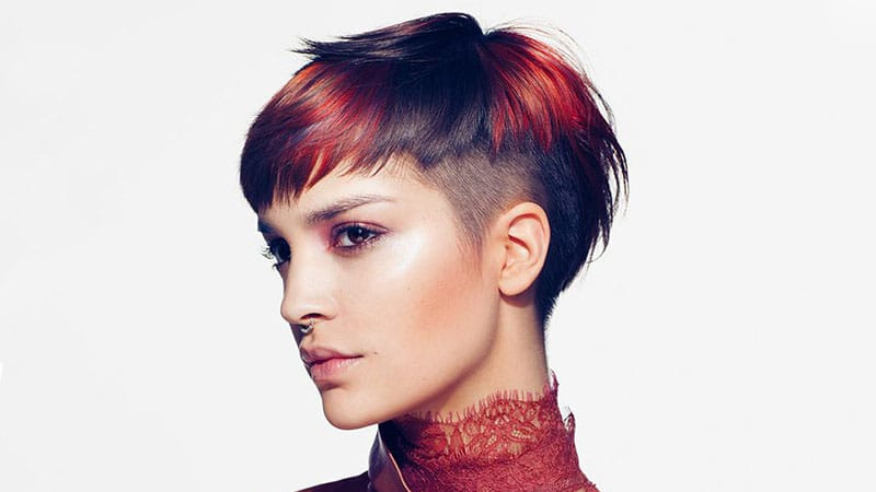 Red Pixie with Undercut