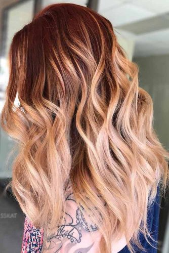 Red to Blonde Balayage picture1
