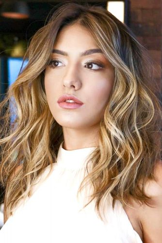 Scattered Bronde Highlights #brownhair #highlights