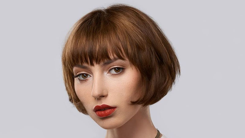 Short Inverted Bob With Bangs Hairstyle