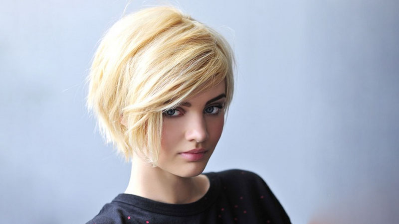 Short Layered Inverted Bob Hairstyle