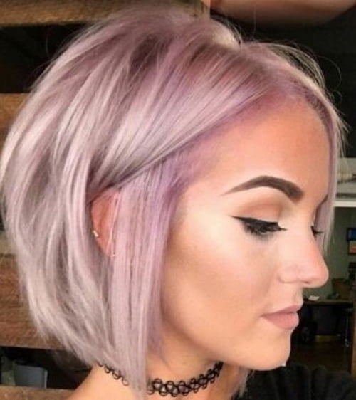 short pastel blonde bob hairstyle for thin hair