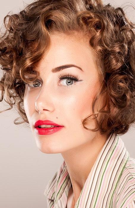 Short Vintage Curls