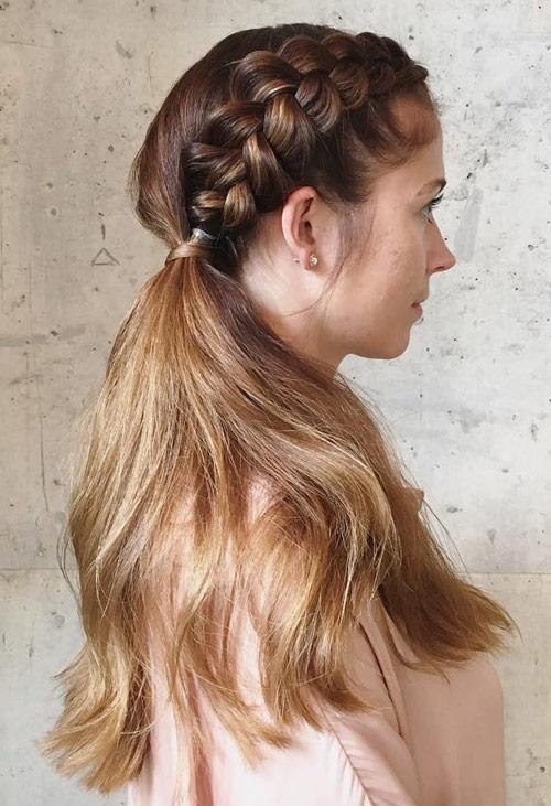 Side Braided Ponytail