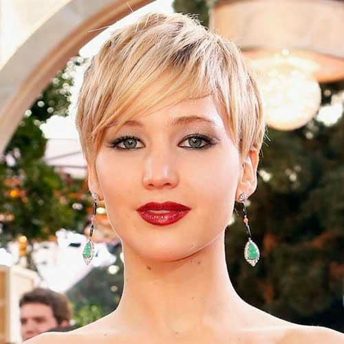 Side Fringed Pixie Jlaw