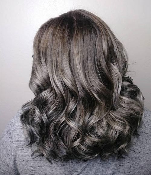 Silver Ash Brown Hair