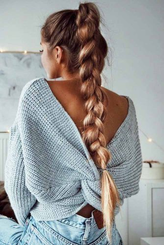 Simple Stylish Ideas Of French Braid Hairstyles picture3