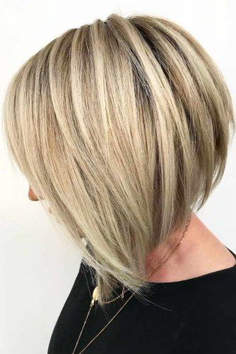 Sleek Layered Cut #layeredhair #bob
