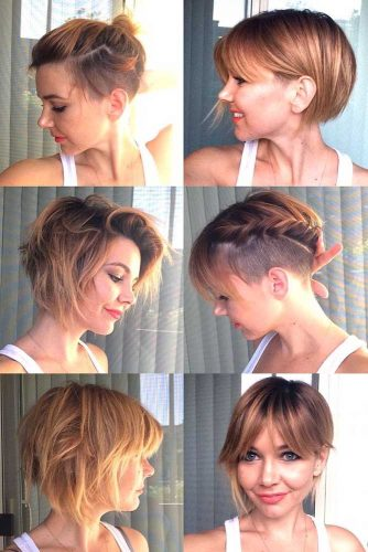 Some Ideas To Style Short Bob With Undercut #undercutbob #haircuts #undercut #bobhaircut
