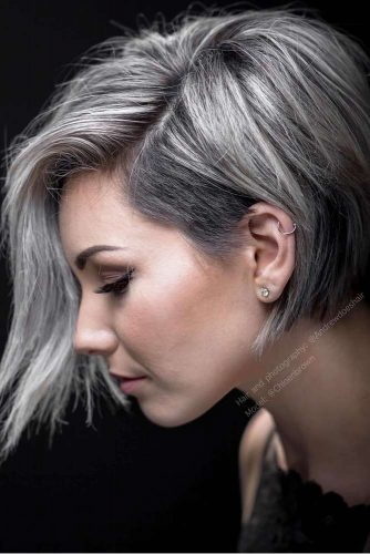 33 COOL WAYS HOW TO WEAR YOUR SHORT GREY HAIR - Hairs.London