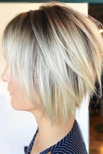 Straight Platinum Blonde Bob #bob #layeredhair