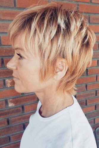 Textured Pixie For Older Women #shorthaircuts #shorthairstyles #shorthair #pixiehaircut #hairstylesforwomenover50