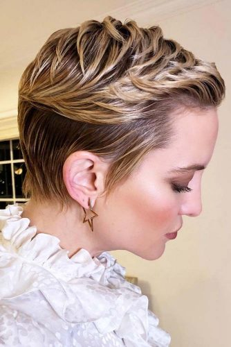 Textured Pixie With Balayage