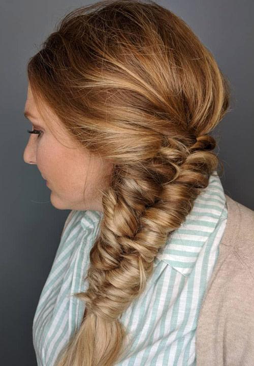 The Fishtail Side Braid