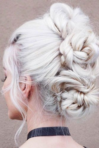 Three Braided Mohawk Buns #mohawk #braids #bun