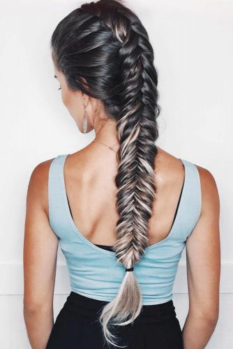 Tight Fishtail Mohawk Braid #longhair #braids