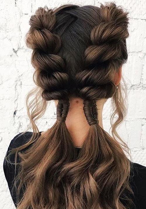 Twisted Side Braids