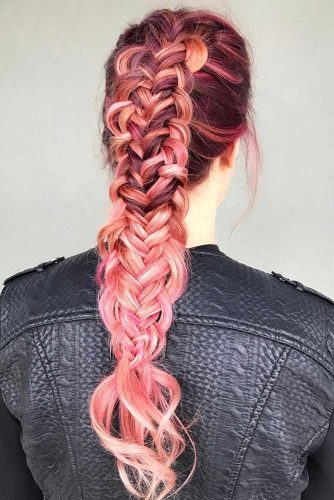 Unbelievable Twisted Edge Fishtail #longhair #braids #fauxhawk